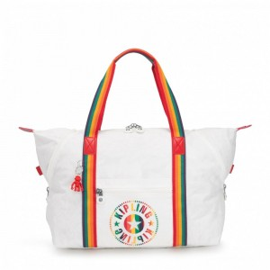 Black Friday 2020 | Kipling Sac Cabas Medium avec 2 Poches Frontales Rainbow White pas cher