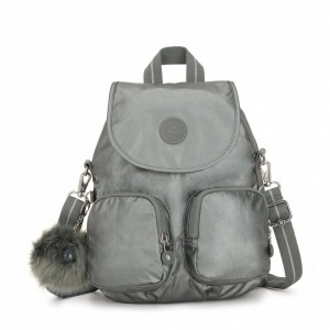 Black Friday 2020 | Kipling Petit sac à dos transformable en sac à bandoulière Metallic Stony pas cher