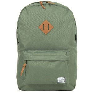 Herschel Sac à dos Heritage deep lichen green/tan pebbled leather vente