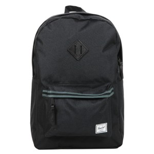 Herschel Sac à dos Heritage Offset black/dark shadow/black veggie tan leather vente