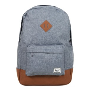Herschel Sac à dos Heritage dark chambray crosshatch/tan vente