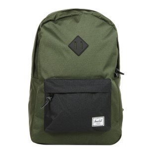 Herschel Sac à dos Heritage forest night/black/black rubber vente