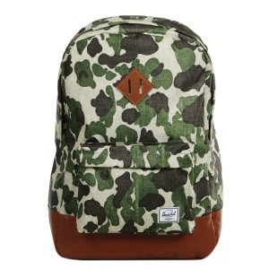 Vacances Noel 2019 | Herschel Sac à dos Heritage frog camo/tan synthetic leather vente