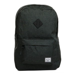Herschel Sac à dos Heritage black crosshatch/black rubber vente