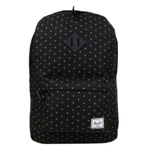 [Black Friday 2019] Herschel Sac à dos Heritage black gridlock gold vente