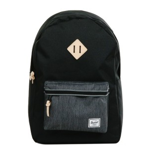 [Black Friday 2019] Herschel Sac à dos Heritage Offset black/black denim vente