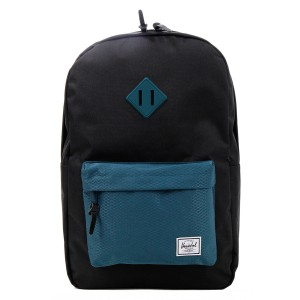 Black Friday 2020 | Herschel Sac à dos Heritage black/deep teal vente
