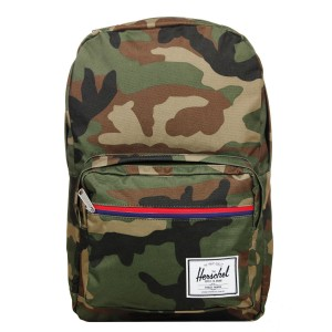 Herschel Sac à dos Pop Quiz woodland camo multi zip/tan vente