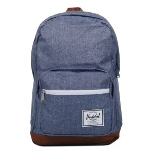 Herschel Sac à dos Pop Quiz dark chambray crosshatch/tan vente