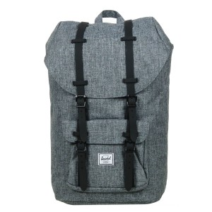 Vacances Noel 2019 | Herschel Sac à dos Little America raven crosshatch/black rubber vente