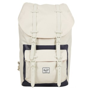 Vacances Noel 2019 | Herschel Sac à dos Little America natural/peacoat block print vente