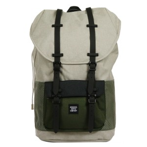 Vacances Noel 2019 | Herschel Sac à dos Little America Aspect light khaki crosshatch/forest night/black rubber vente