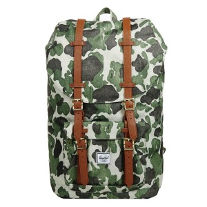 Herschel Sac à dos Little America frog camo/tan synthetic leather vente