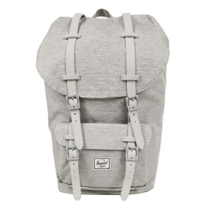 Herschel Sac à dos Little America light grey crosshatch vente