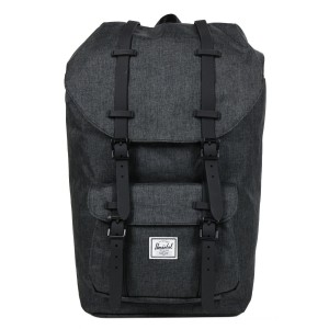 Herschel Sac à dos Little America black crosshatch/black rubber vente