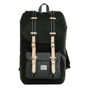 Vacances Noel 2019 | Herschel Sac à dos Little America Offset black/black denim vente