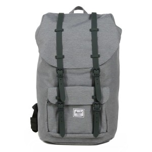 Vacances Noel 2019 | Herschel Sac à dos Little America mid grey crosshatch vente