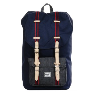 Herschel Sac à dos Little America Offset peacoat/dark denim vente