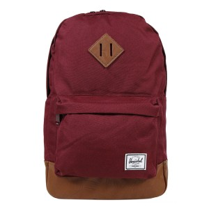 Herschel Sac à dos Heritage Mid Volume windsor wine/tan synthetic leather vente
