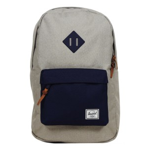 Herschel Sac à dos Heritage Mid Volume light khaki crosshatch/peacoat rubber vente