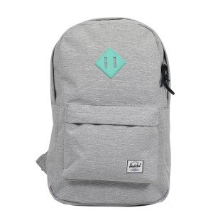 Herschel Sac à dos Heritage Mid Volume light grey crosshatch/lucite green rubber vente