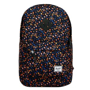 Herschel Sac à dos Heritage Mid Volume black mini floral/black synthetic leather vente