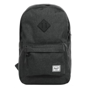 Herschel Sac à dos Heritage Mid Volume black crosshatch/black rubber vente