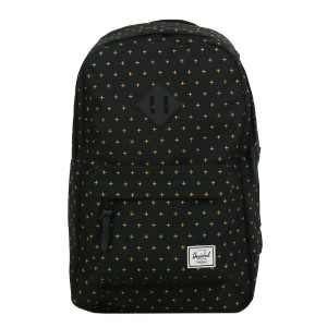 Black Friday 2020 | Herschel Sac à dos Heritage Mid Volume black gridlock gold vente