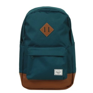 Black Friday 2020 | Herschel Sac à dos Heritage Mid Volume deep teal/tan synthetic leather vente
