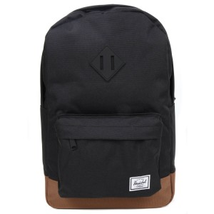 Herschel Sac à dos Heritage Mid Volume black/saddle brown vente