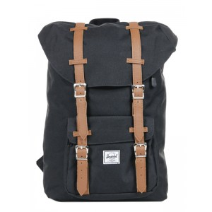 [Black Friday 2019] Herschel Sac à dos Little America Mid Volume black/tan vente