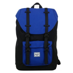Herschel Sac à dos Little America Mid Volume black/surf the web/black rubber vente