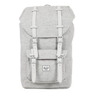 Herschel Sac à dos Little America Mid Volume light grey crosshatch/grey rubber vente