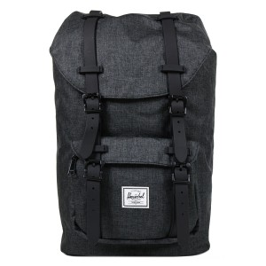 Black Friday 2020 | Herschel Sac à dos Little America Mid Volume black crosshatch/black rubber vente