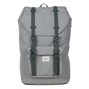 Herschel Sac à dos Little America Mid Volume mid grey crosshatch vente