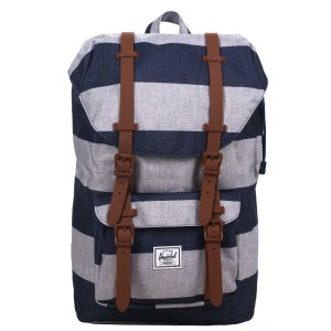 Vacances Noel 2019 | Herschel Sac à dos Little America Mid Volume border stripe/saddle vente