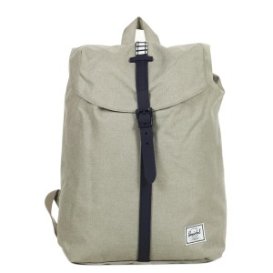 Herschel Sac à dos Post Mid Volume light khaki crosshatch/peacoat rubber/white inset vente