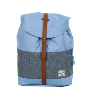 Herschel Sac à dos Post Mid Volume hydrangea/dark chambray crosshatch/tan vente