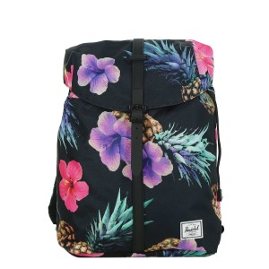Vacances Noel 2019 | Herschel Sac à dos Post Mid Volume black pineapple/black rubber vente