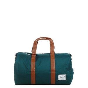 Vacances Noel 2019 | Herschel Sac de voyage Novel 52 cm deep teal/tan synthetic leather vente