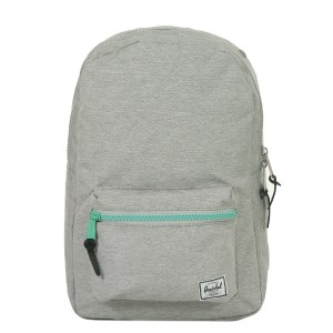 Herschel Sac à dos Settlement Mid Volume light grey crosshatch/lucite green zip vente