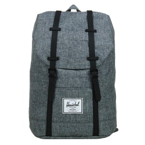 Black Friday 2020 | Herschel Sac à dos Retreat raven crosshatch/black rubber vente