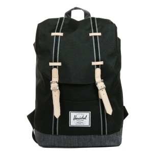 Herschel Sac à dos Retreat Offset black/black denim vente
