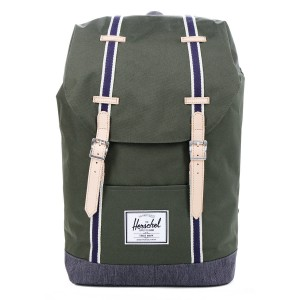 Herschel Sac à dos Retreat Offset forest night/ dark denim vente