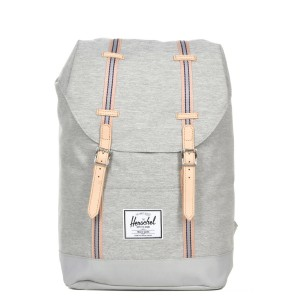 Herschel Sac à dos Retreat Offset light grey crosshatch/high rise vente