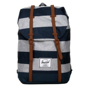 Black Friday 2020 | Herschel Sac à dos Retreat border stripe/saddle vente