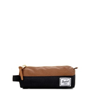 Herschel Trousse Settlement Case black/saddle brown vente