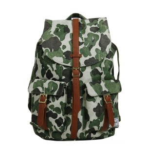 Vacances Noel 2019 | Herschel Sac à dos Dawson frog camo/tan synthetic leather vente