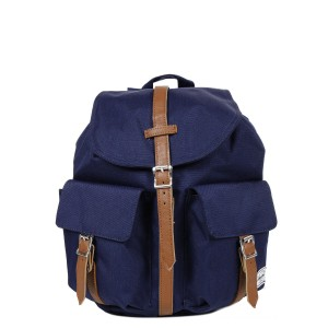 Herschel Sac à dos Dawson X-Small peacoat/tan synthetic leather vente
