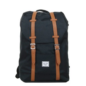 Herschel Sac à dos Retreat Mid-Volume black/tan vente